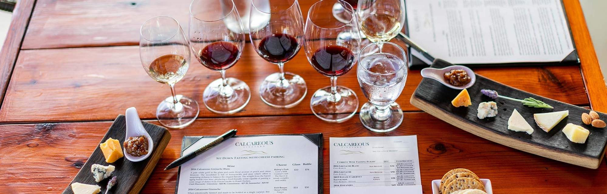 Wine tasting at Calcareous Vineyard in Paso Robles